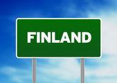 Finlandia autostrady znakiem — Zdjęcie stockowe