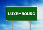 Luxembourg Highway Sign — Stock Photo