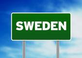 İsveç otoban işareti — Stok fotoğraf