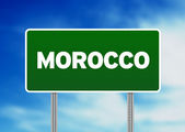 Morocco Highway Sign — Stock Photo