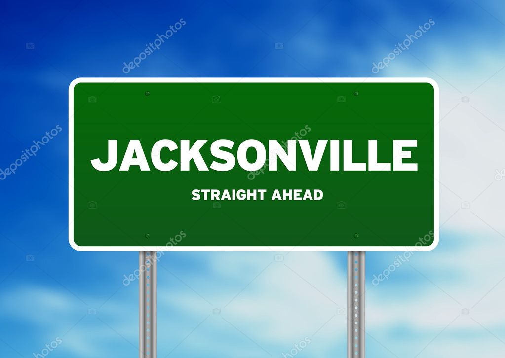 Gas Prices In Florida >> Jacksonville, Florida Highway Sign — Stock Photo © kbuntu #6102960