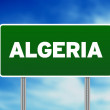 Algeria Highway Sign — Stock Photo