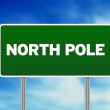 North Pole Highway  Sign — Stock Photo