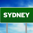 Sydney Highway Sign — Stock Photo