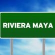 Riviera Maya Highway Sign - Stock Photo