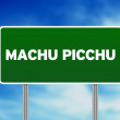Machu Picchu Highway Sign - Stock Photo