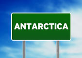 Antarctica Highway Sign — Stock Photo