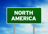 North America Highway Sign — Stock Photo