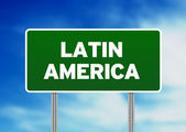 Latin America Highway Sign — Stock Photo