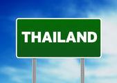 Thailand autobahn zeichen — Stockfoto
