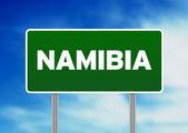 纳米比亚公路标志 — 图库照片