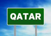 Qatar Highway Sign — Stock Photo