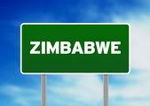 Cartello autostrada zimbabwe — Foto Stock