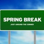 Spring Break Highway Sign — Stock Photo