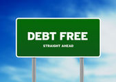 Debt Free Highway Sign — Stock Photo