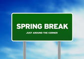 Cartello autostrada Spring break — Foto Stock