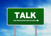 Talk Highway Sign — Stock Photo
