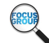 Magnifying Glass - Focus Group — Stock Photo