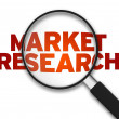 Magnifying Glass - Market Research — Stock Photo