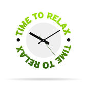 Time to relax clock — Stock Photo