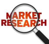 Magnifying Glass - Market Research — Fotografia Stock