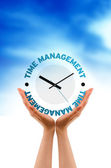 Hand - Time Management Clock — Stock Photo