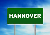 Hannover Road Sign — Stock Photo