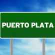 Stock Photo: Puerto PlatRoad Sign