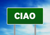 Ciao Road Sign — Stock Photo