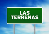 Las Terrenas Road Sign — Stock Photo