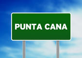 Punta Cana Road Sign — Stock Photo