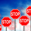 Stop Road Sign — Foto de Stock