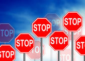 Stop Road Sign — Stock Photo