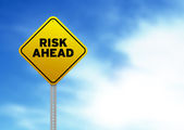 Risk Ahead Road Sign — Stock Photo