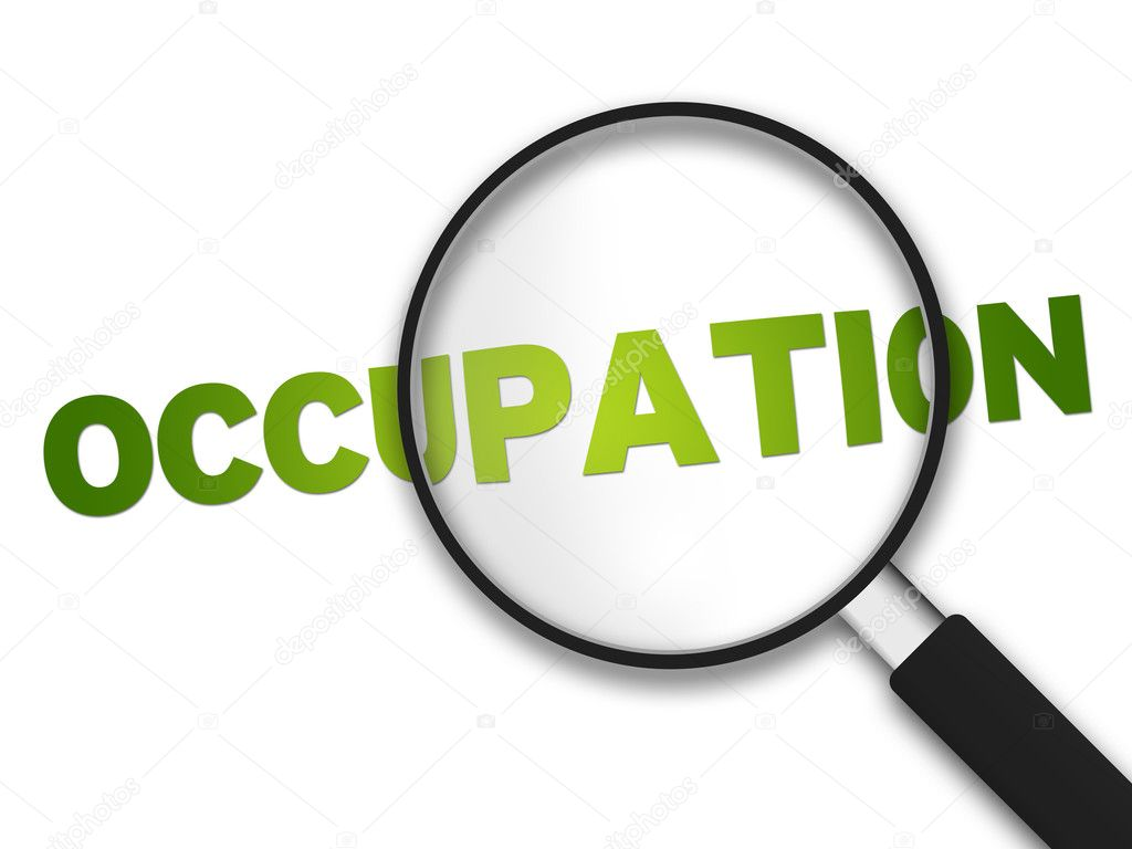 Magnifying Glass with the word Occupation on white background.  Stock Photo #6220815
