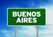 Buenos Aires Road Sign — Stock Photo