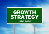 Growth Strategy Road Sign — Stock Photo
