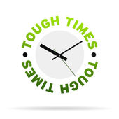 Tough Times Clock — Stock Photo