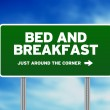 Bed & Breakfast Road Sign — Stock Photo #6271469