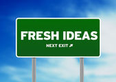 Fresh Ideas Road Sign — Stock Photo