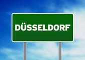 Duesseldorf roady znak — Zdjęcie stockowe