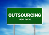 Outsourcing Road Sign — Stock Photo