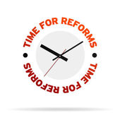 Time For Reforms Clock — Zdjęcie stockowe