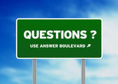 Questions Road Sign — 图库照片
