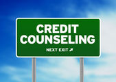 Credit Counseling Road Sign — Stock Photo