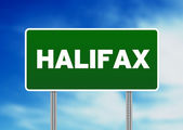 Halifax Road Sign — Stock Photo