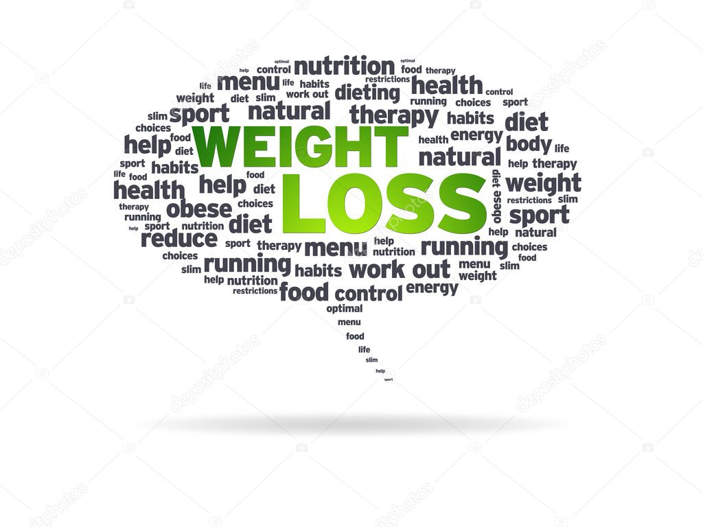 Speech bubble with the words weight loss on white background. — Stock Photo #6280796