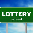 Lottery Road Sign — Stock Photo