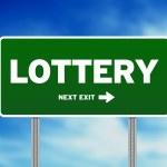 sinal de trânsito de loteria — Foto Stock