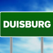 Green Road Sign - Duisburg — Stock Photo